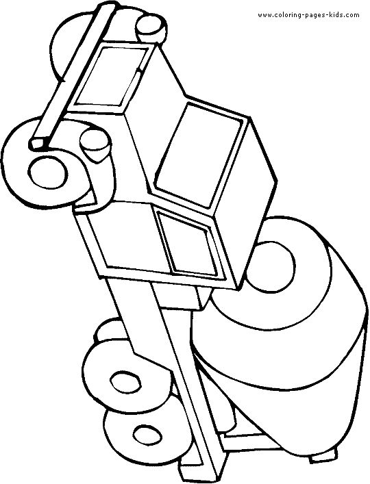 trucks and trains coloring pages - photo#44