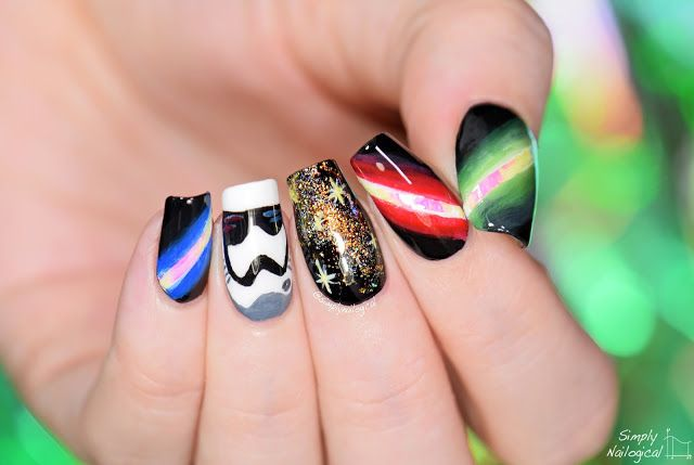 Star Wars nails uh oh I've joined the dark side | Simply Nailogical | Bloglovin'