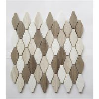 Faber Athens 13-in x 14-in Blend Wave Natural Stone Mosaic Wall Tile