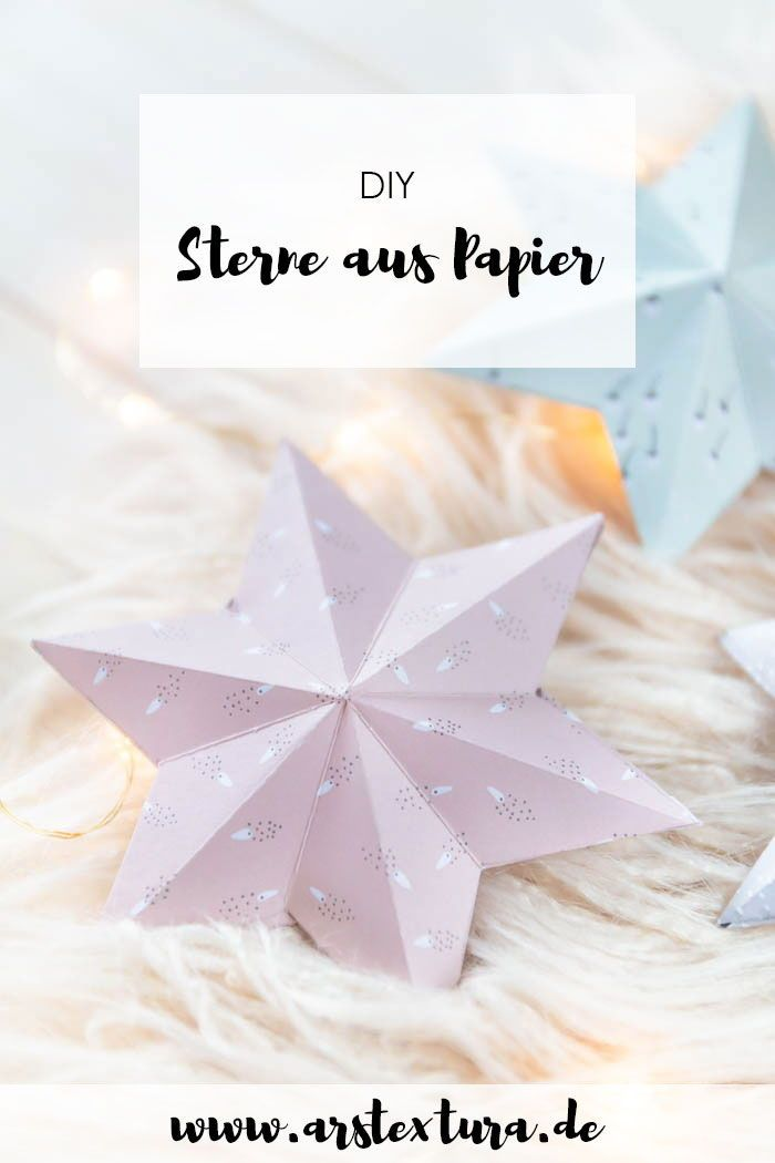 Sterne Aus Papier Basteln Diy Basteln Einfach Basteln Mit Papier