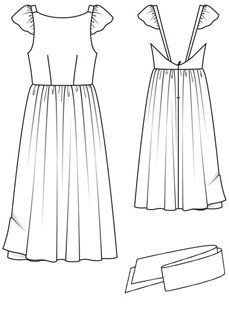 How to Sew Lining to a Bodice with Integrated Sleeve and Strap