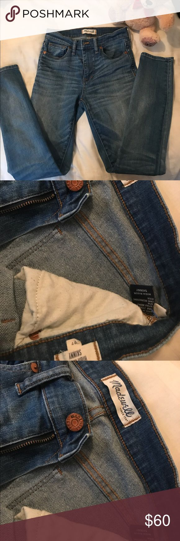 Madewell High rider jeans Only worn once! MAKE AN OFFER! :) Madewell Jeans