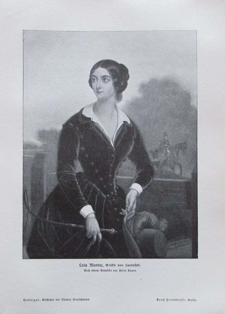 Lola Montez, Gräfin von Landsfeld von Laure, Tänzerin - alter Druck aus 1906