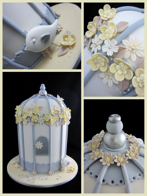 douche de bébé cage d'oiseau gâteau inspiré par des conceptions gâteau michelle
