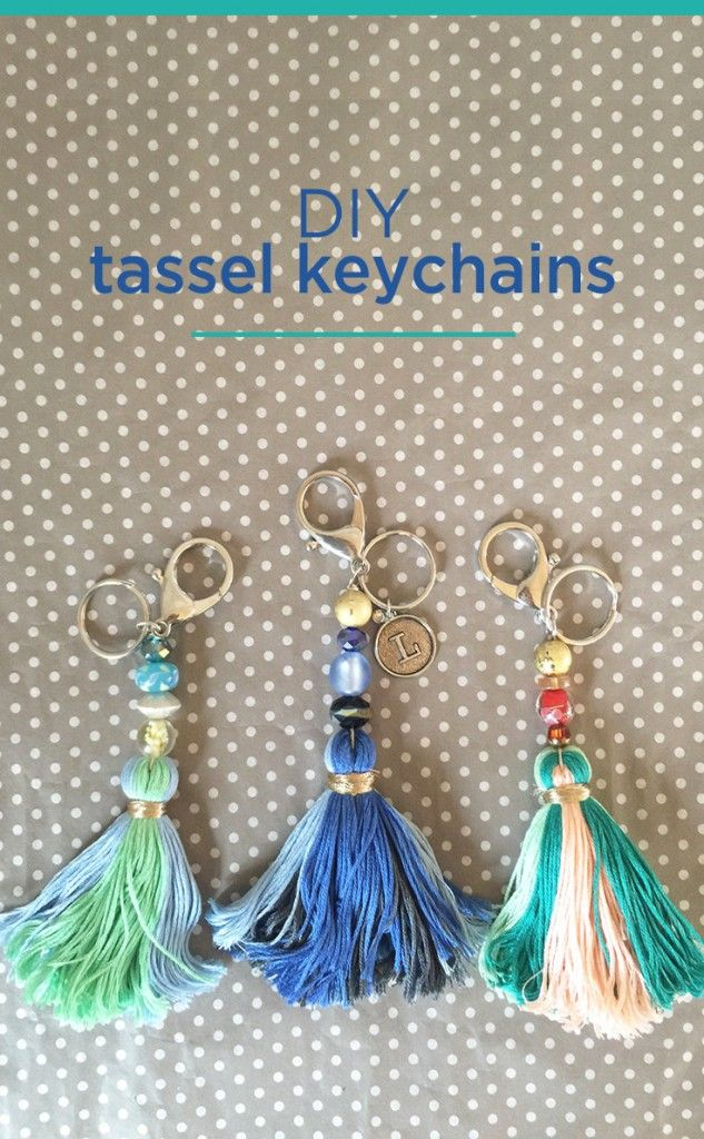 DIY tassels keychains - a colorful and fun gift idea