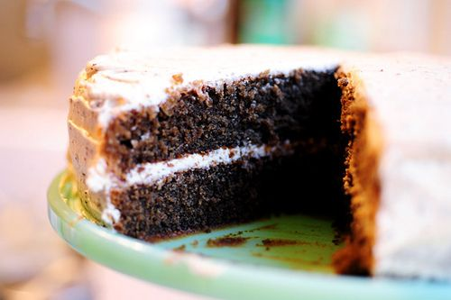 It's a cake made with coffee, and frosted with coffee, and... now I must buy the Pioneer Woman cookbook.