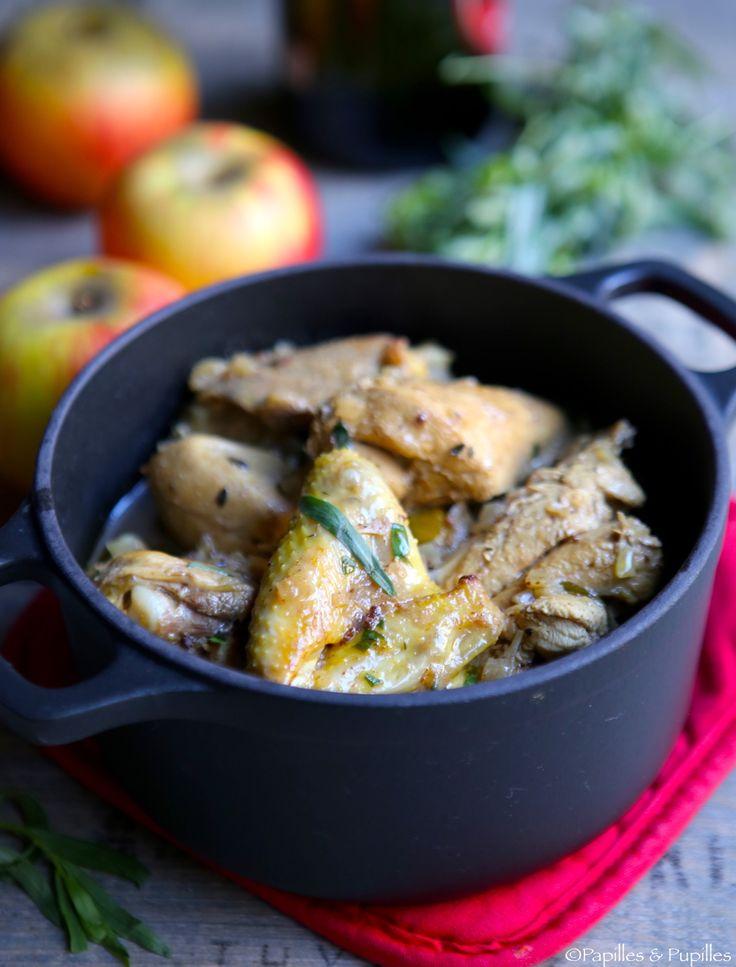 Poulet à la moutarde et au cidre #Poulet #moutarde #cidre #recette