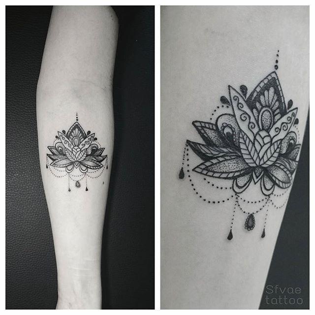 tattoo lotus lotustattoo dotwork on Instagram