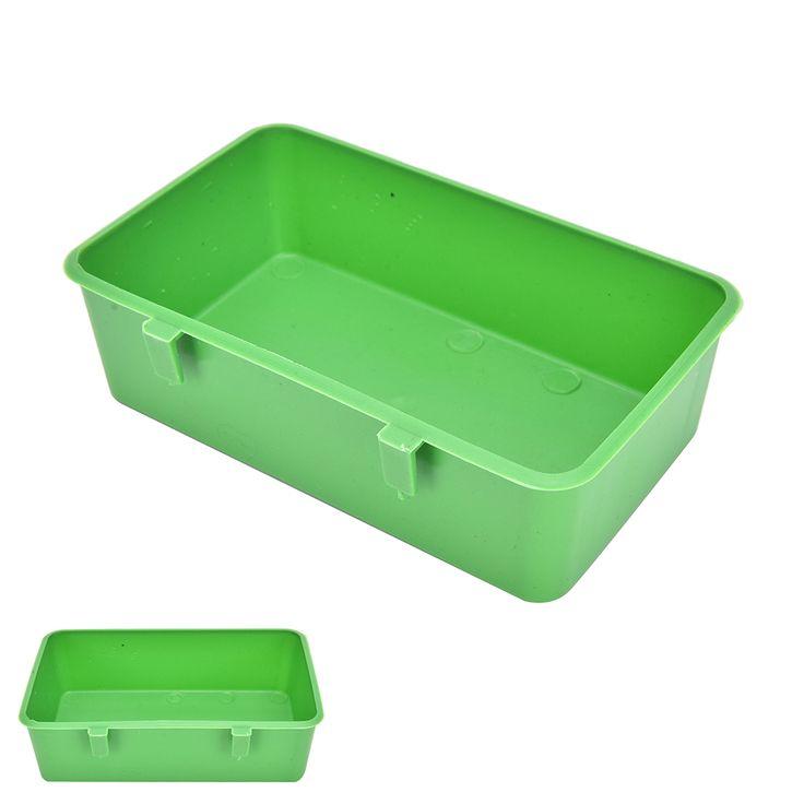 1 STÜCK Kunststoff Pet Papagei Vogel Badewanne Bad Sauber Box Füttern Wasser Box Haustier Reinigungsmittel 12x7,5 CM