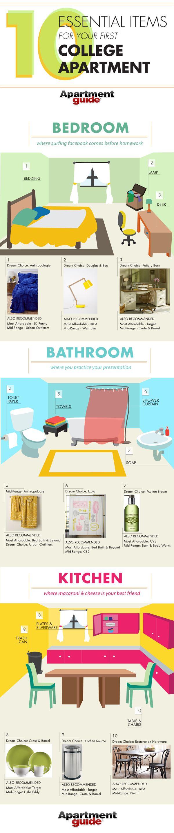 Best 25 New Apartment Essentials ideas on Pinterest Checklist