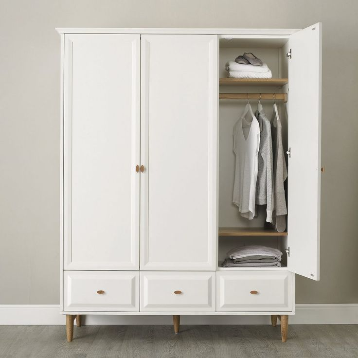 Bedroom Furniture:White Small Wooden Armoire Leg Wardrobe Cabinet Classic Minimalist Style Bedroom Storage Grey Painted Wall Oak Laminate Flooring Attractive Vintage Bedroom Wardrobe and Pictures Design