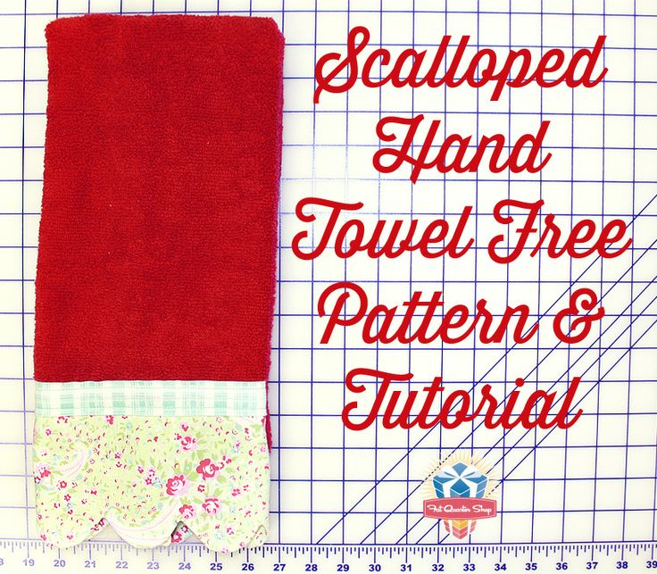 Floral Scalloped Hand Towel! Make your own with our FREE pattern & tutorial.