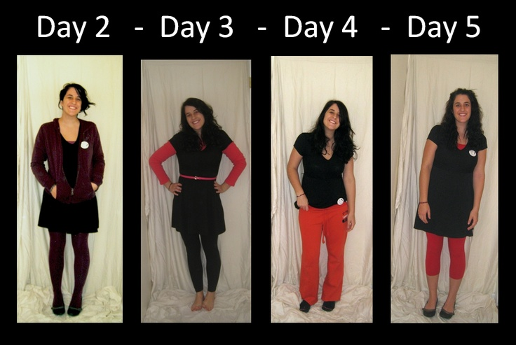 this blogger wore the same dress for 40 days to raise awareness about poverty issues around the world