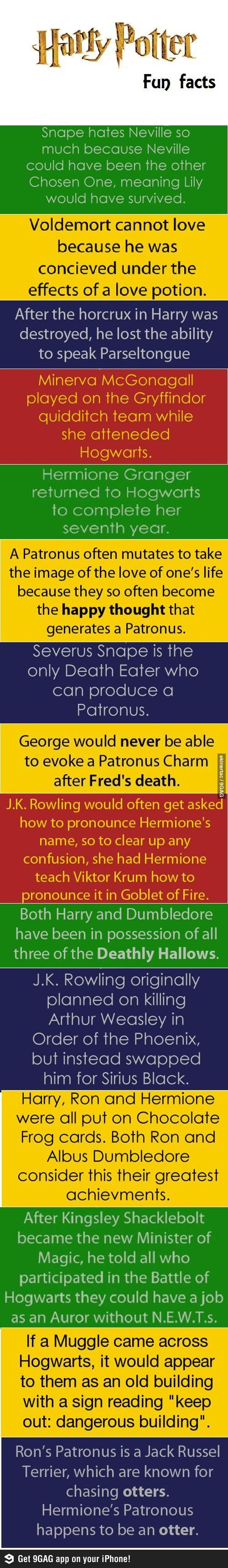 Harry Potter Fun Facts, or how even my Harry Potter loving mind was blown.