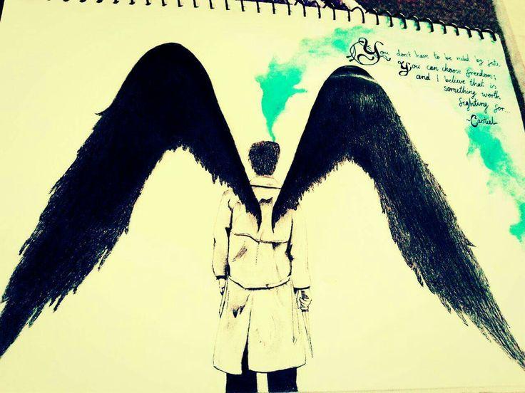 Supernatural drawing- Castiel- A prayer from an angel.