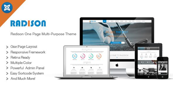Radison is a Responsive Creative Multi-purpose Joomla one page template. It comes with subtle design and clean coding structure. All the features here are unique and ready to use. You can synchronize all the codes easily and in fastest time without any hassle. This is tested with all major browsers and devices ( ipad, iphone, galaxy tab etc). If you thinking about small or big Business, Radison is here to support you. Thinking about support?? We are here to support you for any purposes.