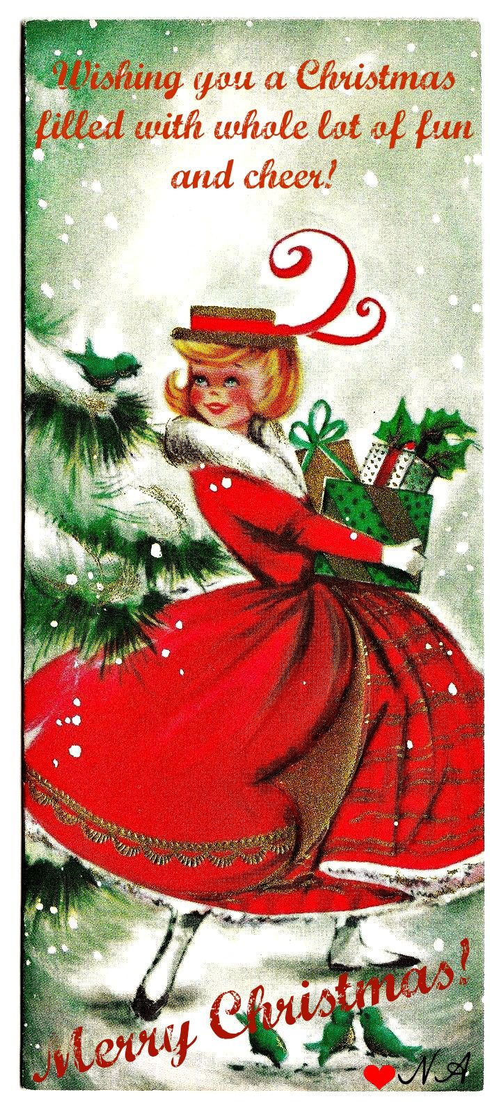 113 best vintage christmas cardsrds images on pinterest merry to all my friends and followers merry christmas and a happy new year 3 kristyandbryce Gallery
