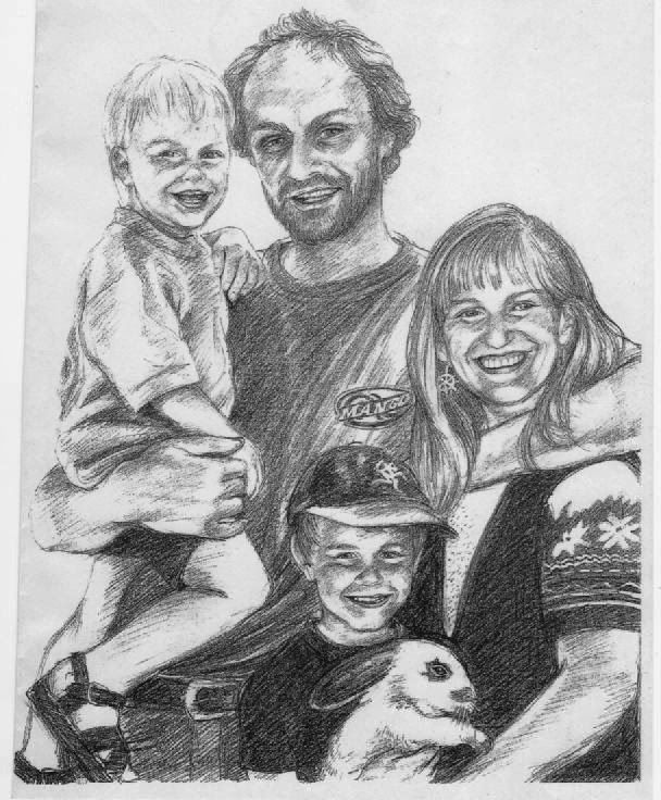 Young family, graphite