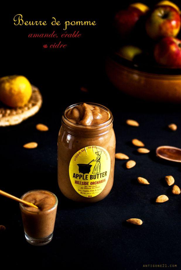 Beurre de pomme {amandes, cidre & sirop d'érable} - Antigone21.com Idée cadeau