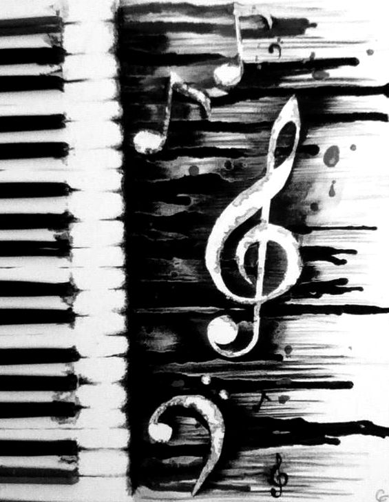 Music Art Black And White | www.pixshark.com - Images ...