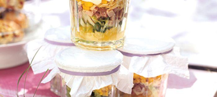 Miracel Whip Schichtsalat Hawaii im Einweckglas