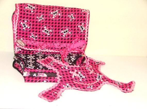 Pink Punk and Sassy 6 Piece Baby Set by lillollipopsdesigns, $36.50Pink Punk, Punk Rocks, Rocks Girls, Baby Sets, Piece Baby