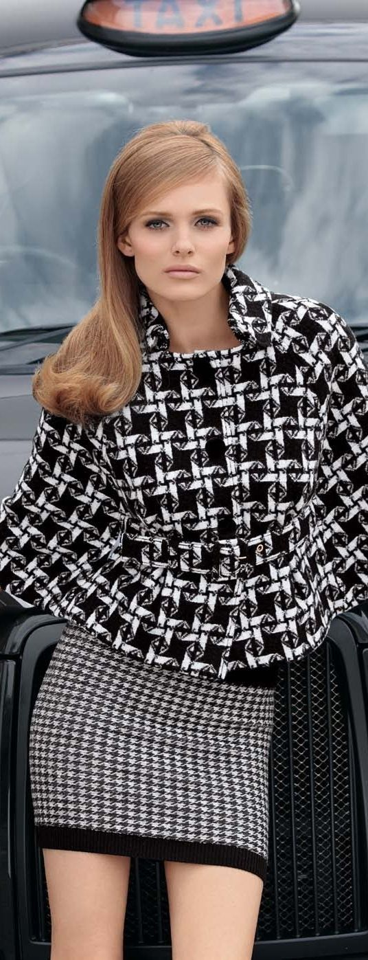 BLack and WHite women fashion outfit clothing style apparel @roressclothes closet ideas