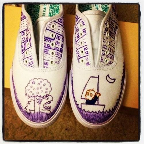 Harold and the Purple Crayon Shoes
