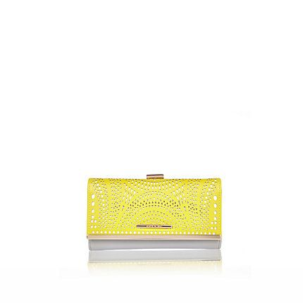 Lime lasercut clip top purse £17.00 #riverisland