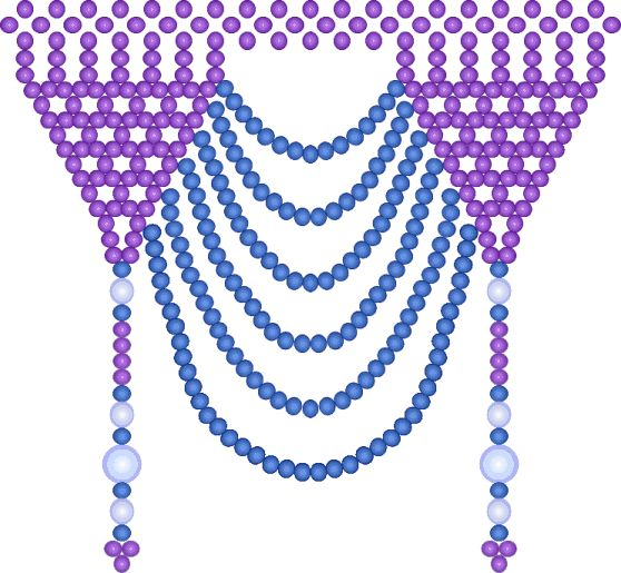 seed bead netting instructions - Ivy bowl cover or necklace