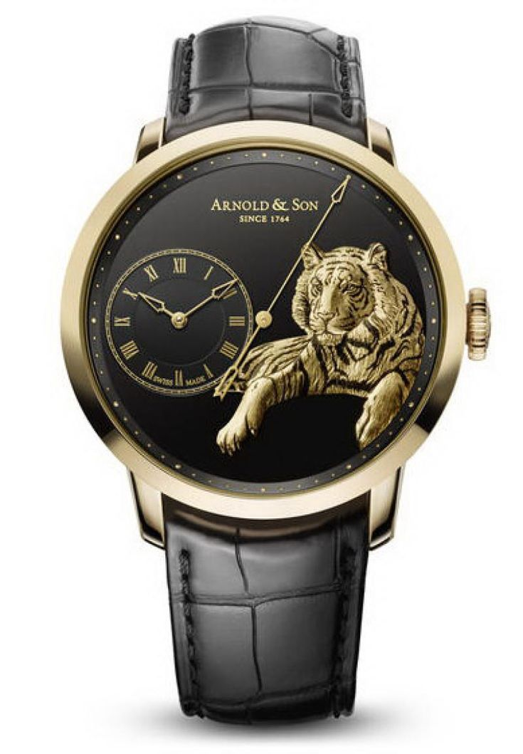 Arnold & Son 1ARAP.B03A.C121P Instrument Collection TB Tiger - швейцарские часы мужские - черные, наручные золотые часы