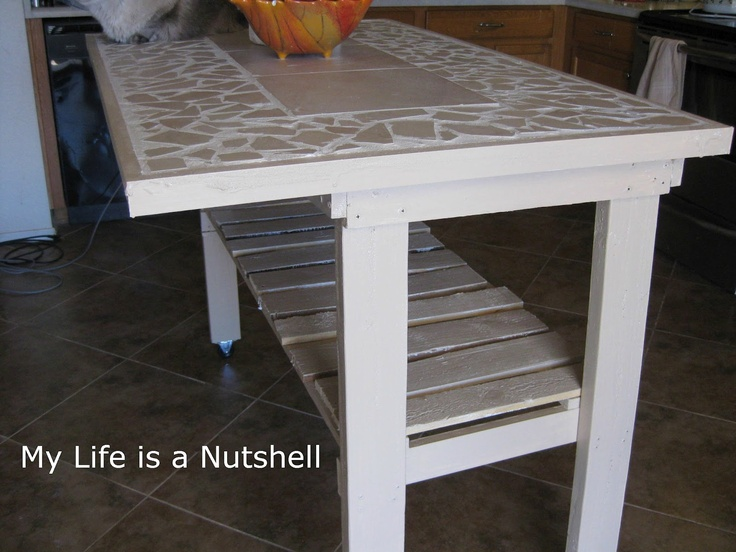 Exceptional Love This Pallet Board Kitchen Island With Tile Top! Seems Like A Very Easy  DIY