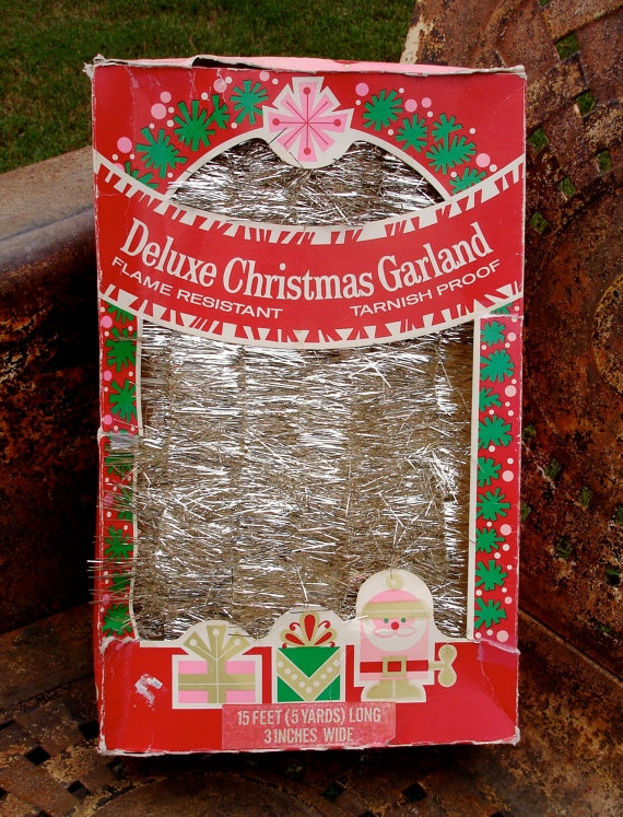 Best vintage christmas garland tinsel icicles images