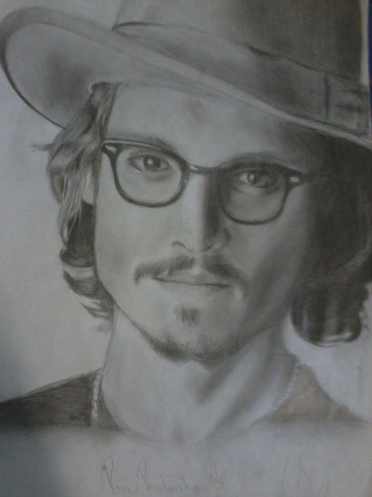 Meu desenho do Johnny Depp - Drawing 2013
