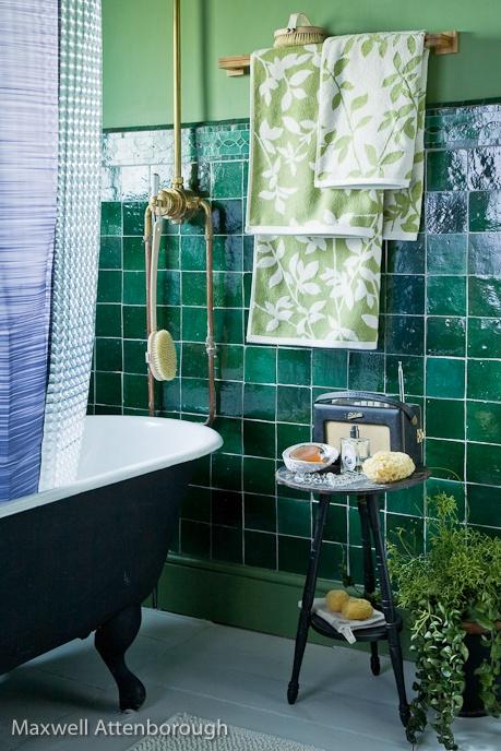 Greens + yellows - tiles