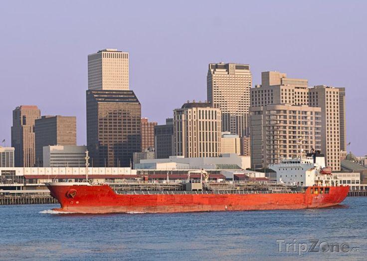 Fotka, Foto Nákladní loď na řece Mississippi (New Orleans, USA)