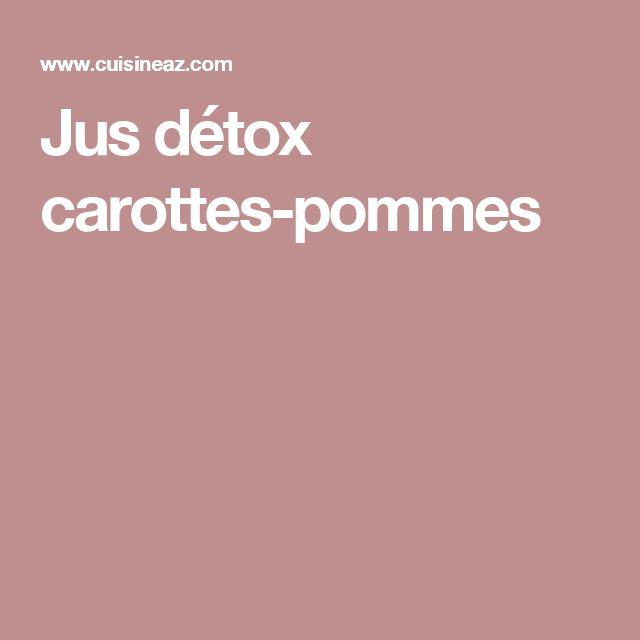 Jus détox carottes-pommes