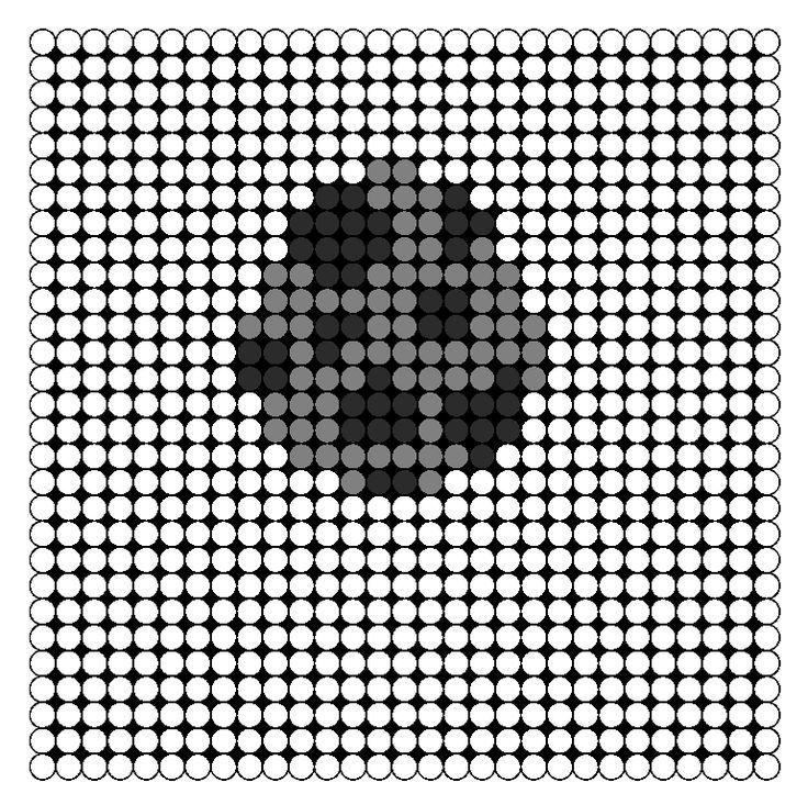 Minecraft Enderman Spawn Egg Perler Bead Pattern | Bead Sprites | Misc Fuse Bead Patterns