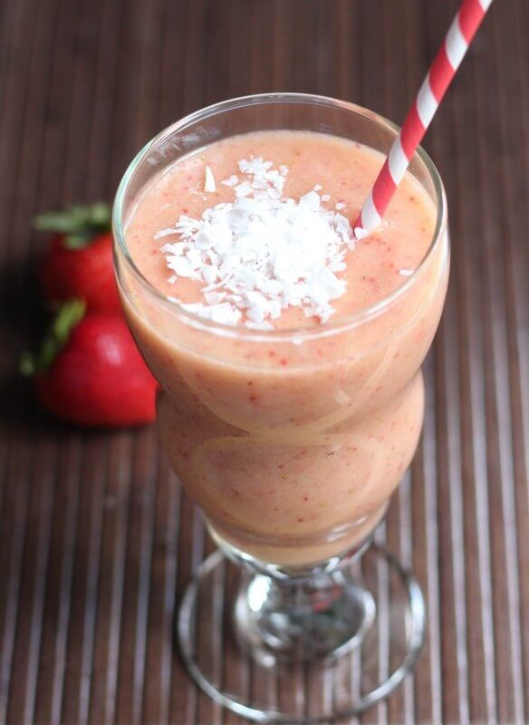Strawberry Mango Guava Smoothie the flavors of the
