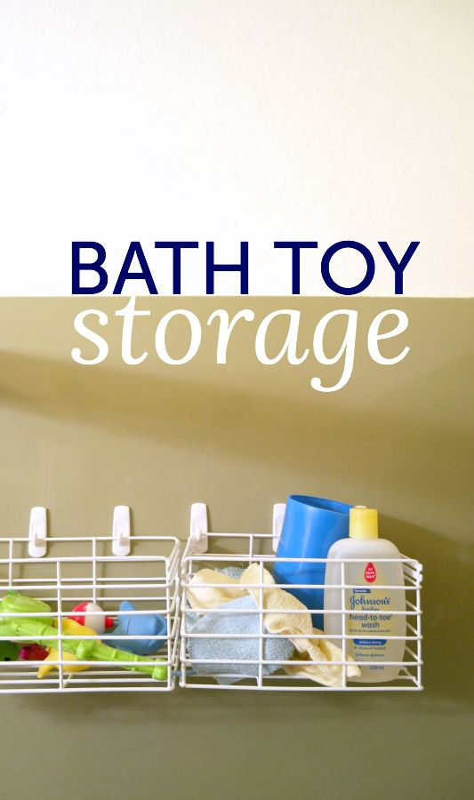 Clutter? Here's a bath toy storage ideas that won't get all gross and moldy.
