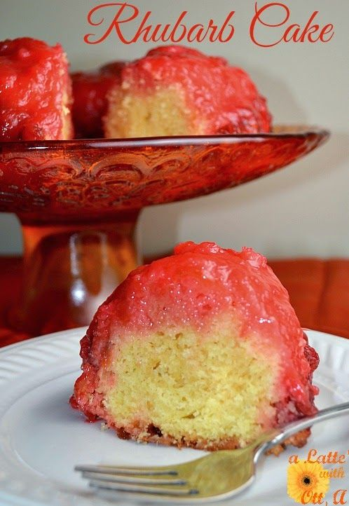 Rhubarb strawberry jello cake recipe