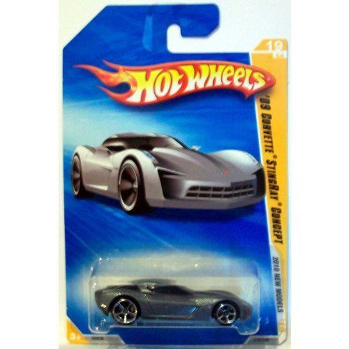 "Hot Wheels 2010-019 New Models SILVER '09 Corvette Stingray Concept 1:64 Scale by Mattel. $1.00. New Models #19 of 44. 2010 Hot Wheels #19 of 240. 1:64 Scale Die Cast Collector Car. With a futuristic shape based on the original 1969 Stingray race car, this concept car also draws on Corvette cues from other generations, making a sweet ""transformation"" from old to new."