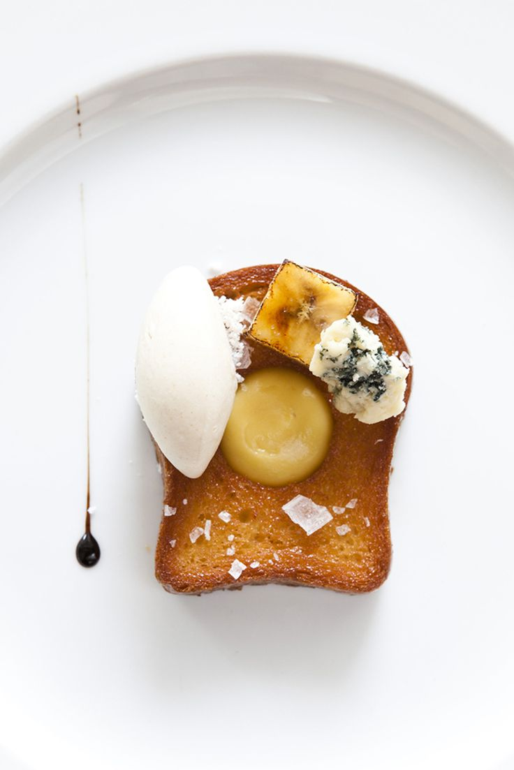"""Bob Truitt  Pane Caramello  Caramelized Banana Truitt's advice: """"Always use a nonstick pan for caramelizing fruit.""""  Banana-Brioche Ice Cream Truitt soaks brioche in milk to flavor ice cream. He says it tastes just like a Krispy Kreme doughnut.  Passion Fruit """"Mayo"""" Passion fruit blended with olive oil becomes a thick, mayonnaise-like cream. Truitt says, """"Never cook fresh fruit juice. It totally changes the flavor.""""  Licorice Syrup"""