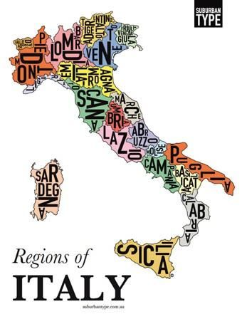 Italian regions poster
