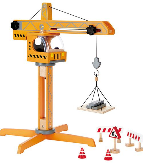 Crane Lift From Hape from The Wooden Toybox