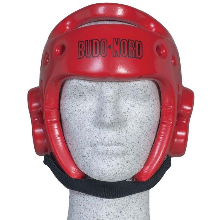 Budo-Nords røde hjelm - 375,00 DKK   Budo-Nords røde hjelm er en af de mest populære hjelme til taekwondo - kan sagtens og med fordel bruges til andre stilarter, specielt hvor der bruges rødt og blåt udstyr.