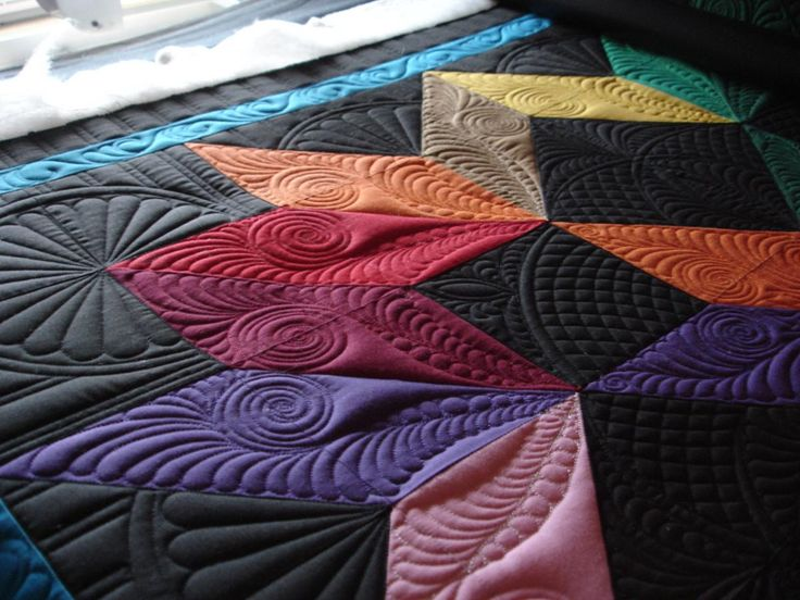 33 best Machine Quilting - Wedges, Diamonds images on Pinterest ... : small long arm quilting machines - Adamdwight.com