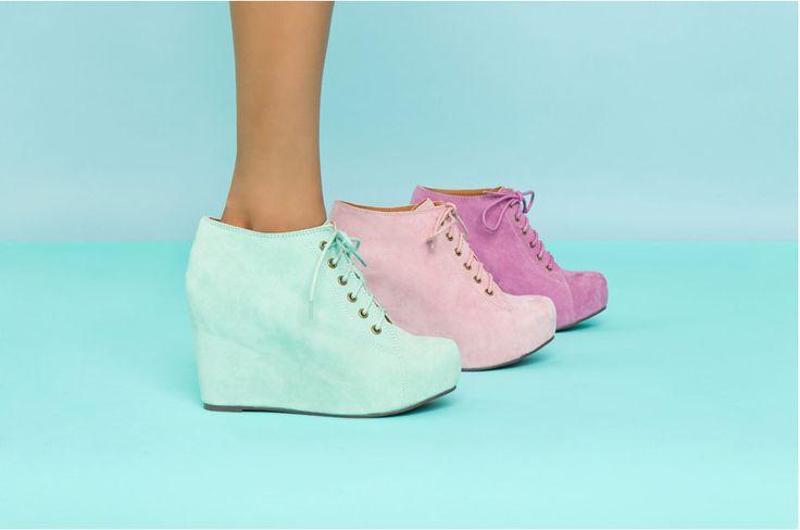 Jeffrey Campbell 99 tiePastel Shoes, Comfortable Shoes, Pretty Colors, Bubbles Gum, Pastel Colors, Parties Shoes, Jeffrey Campbell, Survival Guide, Comforters Shoes