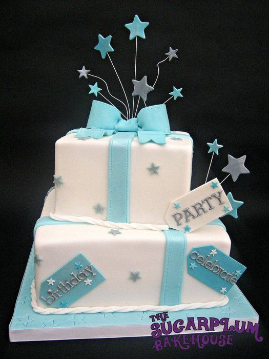 2 Tier  Present  Cake - by SugarplumB @ CakesDecor.com ...