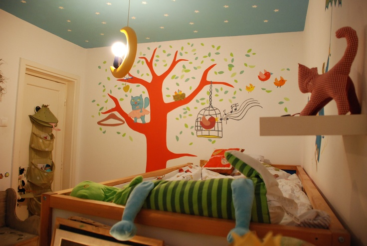 Nuca's Dream Room  Mural painting made for Nuca ( 5 years old)